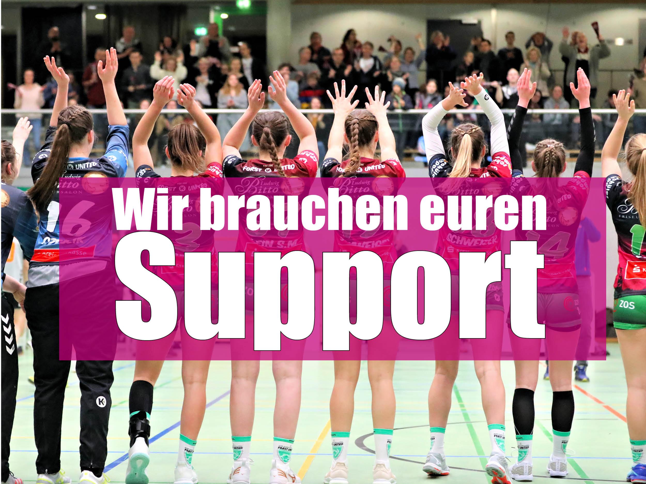 Handballerinnen bitten um Unterstützung